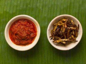 Foto van een zelfgemaakt sambal petai recept.